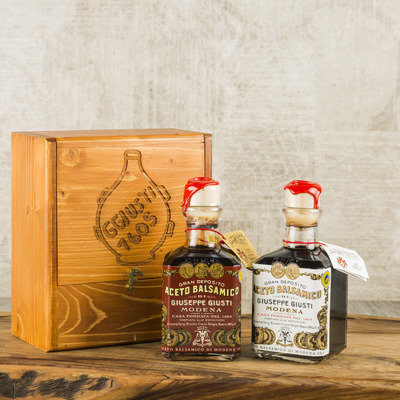 "Balsamic Vinegar Duetto Rustico Giusti IGP ""2 and 3 Gold Medals"""