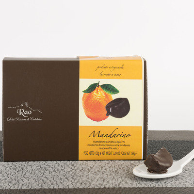 Mandarin covered with dark chocolate