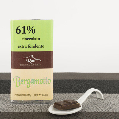 Extra dark chocolate bar with bergamot