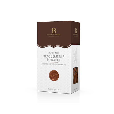 Cocoa and Chopped Hazelnut Biscuits - 150g Box
