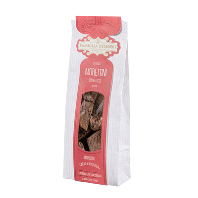 Morettini Cantucci Chocolate and Hazelnut Biscuits